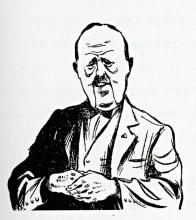 Maarten Oortwijn, Karikatuur van H.A. van Baak