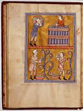 Psalterium (handschrift twaalfde eeuw) [Foto: Koninklijke Bibliotheek Den Haag]
