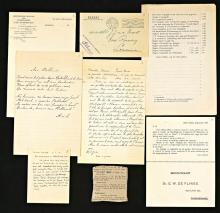 Aantekeningen, krantenknipsels en ander los materiaal afkomstig van Van der Harst (Koninklijke Bibliotheek Den Haag)