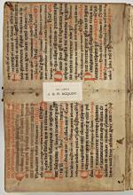 Ex-libris van J.G.R. Acquoy in Jacobus de Voragine, Heiligenlevens uit de Legenda aurea (Koninklijke Bibliotheek Den Haag)