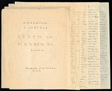H. Marsman, handschrift voor 'Heden ik, morgen gij' [Koninklijke Bibliotheek, Den Haag]