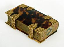 Amsterdamse boekband uit circa 1665 voor Libro deoraciones de mez y la orden de Hanukah (1663/64)  [Foto: Koninklijke Bibliotheek, Den Haag