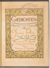 Jacques Perk, Gedichten (1897) (Koninklijke Bibliotheek Den Haag, aanvraagnummer: KW 1350 F 83)