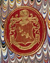 Ex-libris van Antonius van der Linde (Koninklijke Bibliotheek Den Haag, aanvraagnummer: KW 344 H 20)