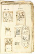 Tekeningen door Carolus Clusius van Latijnse inscripties uit Oostenrijk en Hongarije door C.G. Saxe herordend en van commentaar voorzien (Koninklijke Bibliotheek Den Haag, aanvraagnumnmer: KW 72 B 22, f. 6r)